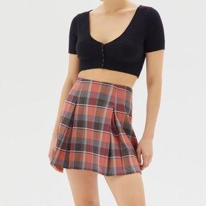NWT UO Plaid 90s Y2K Pleated Skirt Academia